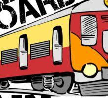 all aboard gain train Sticker