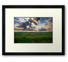 A Beautiful End to a Beautiful Day Framed Print
