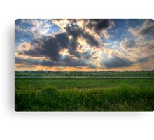A Beautiful End to a Beautiful Day Canvas Print