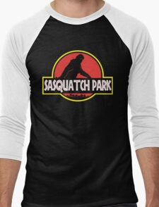 Sasquatch Park Bigfoot Parody T Shirt Men's Baseball ¾ T-Shirt