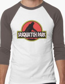 Sasquatch Park Bigfoot Parody T Shirt Men's Baseball ¾ T-Shirt