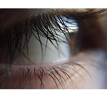 A closer look at the lash (super macro) Photographic Print