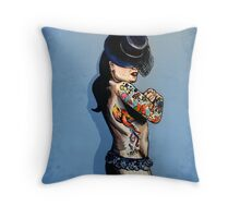 Lady of the Circus - A woman and her ink Throw Pillow