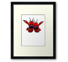 She's his lobster Framed Print