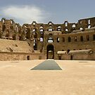 Amphitheatre at El Djem by mariarty