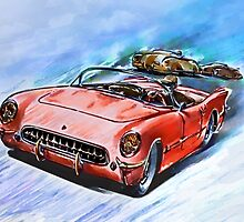 Chevrolet Corvette V8 1955  by andy551
