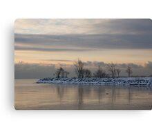Pale, Still Morning on Lake Ontario Canvas Print