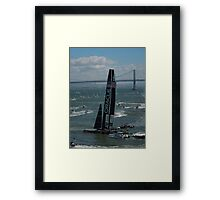 """""""The USA Oracle wins the America's Cup"""" Framed Print"""