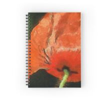 Bloody Red Blossom Spiral Notebook