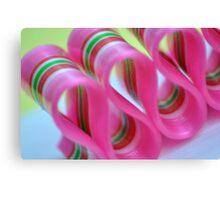 Ribbon Candy:  Pink Canvas Print