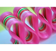 Ribbon Candy:  Pink Photographic Print