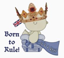 Born to Rule!-Baby Boy/Union Jack One Piece - Long Sleeve
