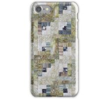 Foggy Morning Log Cabin Quilt iPhone Case/Skin
