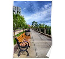 Bench on the Path Perspective Poster