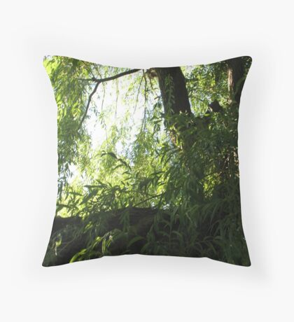 The Willowing Willow Throw Pillow