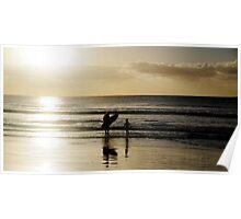 Sunrise Surf Poster