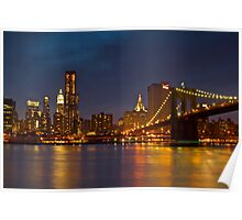 Manhattan from Brooklyn Poster