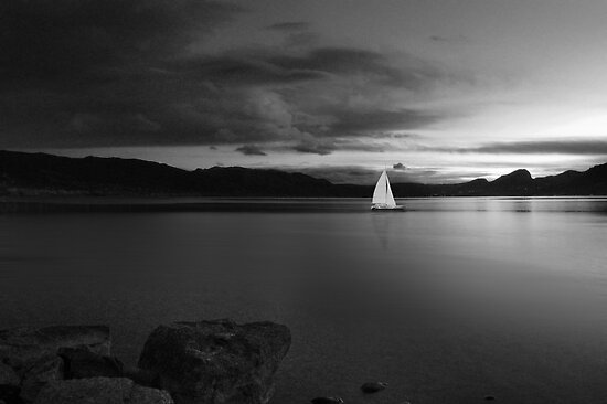 Come Sail Away (bw) by John Poon