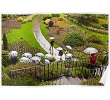 Sunken Garden, Butchart Gardens, Victoria Poster