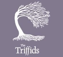 Triffids tree and logo in white - tree by Martyn P Casey Kids Clothes