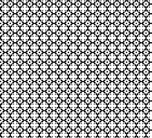 Black and White Floral Pattern by artgoddess