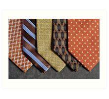 Ties in Brown tone Art Print