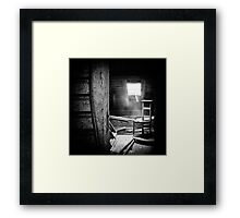 Church attic. Framed Print