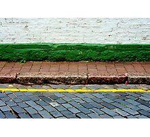 Road, Line, Kerb, Path, Step, Wall Photographic Print
