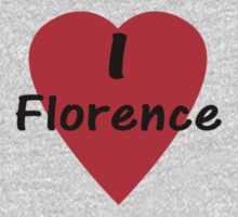 I Love Florence - I Heart Firenze T-Shirt One Piece - Long Sleeve