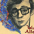 Woody Allen with tinted shadows by iwantajuicer