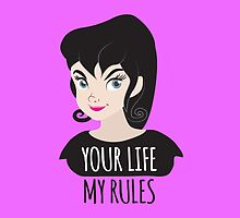 YOUR LIFE MY RULES awesome punk chick with black hair by jazzydevil