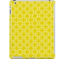 Yellow retro network squares iPad Case/Skin