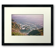 California waves Framed Print