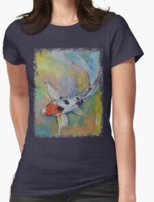 Maruten Butterfly Koi Womens Fitted T-Shirt