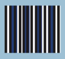Blue Black White Stripe Bed Cover Baby Tee