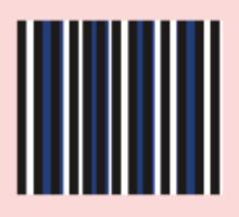 Blue Black White Stripe Bed Cover One Piece - Short Sleeve