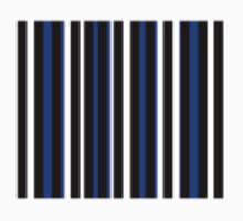 Blue Black White Stripe Bed Cover Kids Clothes