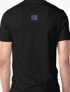 Blue Black White Stripe Bed Cover Unisex T-Shirt