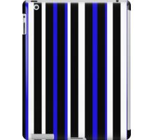 Blue Black White Stripe Bed Cover iPad Case/Skin