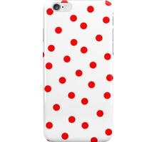 Red Polka Dot Bed Cover iPhone Case/Skin