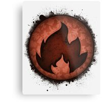 The Fire Types Metal Print