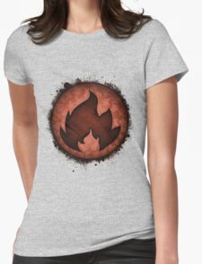 The Fire Types Womens Fitted T-Shirt