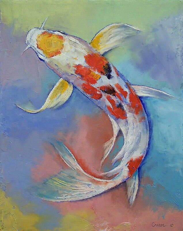 Butterfly koi fish photographic prints by michael creese for Koi prints canvas