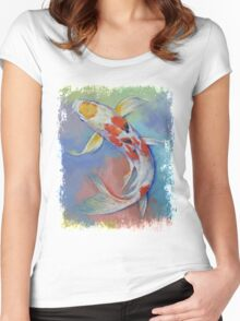 Butterfly Koi Fish Women's Fitted Scoop T-Shirt