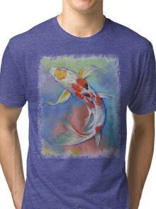 Butterfly Koi Fish Tri-blend T-Shirt