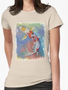 Butterfly Koi Fish Womens Fitted T-Shirt