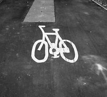 Bicycle Lane by Artberry