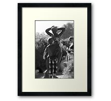 The French Statue Framed Print