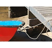 RED DINGHY Photographic Print