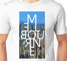 Melbourne - Mirror Text City View Unisex T-Shirt